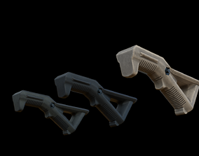 Angled Foregrip 3D asset