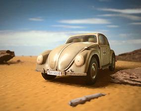 VW beetle Typ 87 Afrika Korps staff car WW2 3D asset 1
