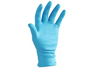 Surgical latex Gloves 3D model