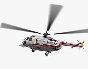 Mi-8T Poland Air Force Animated 3D asset