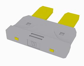 3D asset Car Fuse