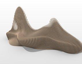 sofa parametric bench 2 3D model