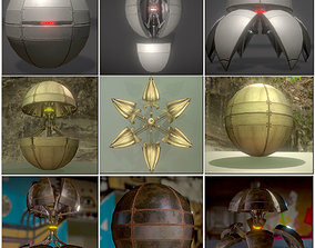 3D asset Sphere Bot Collection