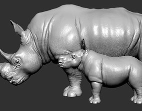 realistic 3D printable model Rhino
