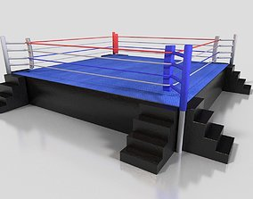 Boxing Ring 3D model realtime