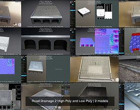 3D model Road Drainage 2 High-Poly and Low-Poly vis-all-3d