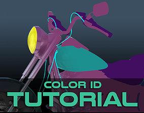 Color IDs - Maya Tutorial 3D model