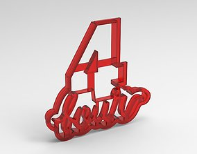 numbers cookie cutter 4 3D print model