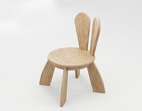 3D asset Kid Wooden Minimalistic Chair