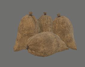 Closed sack - Gameready prop 3D asset