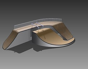 3D model Obstacle for a skating park