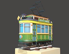 Classic City Tram 3D model