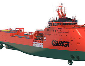 Fast Rescue Vessel ESVAGT AURORA 3D model