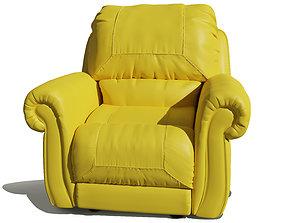 Single Seater comfortable sofa 3D