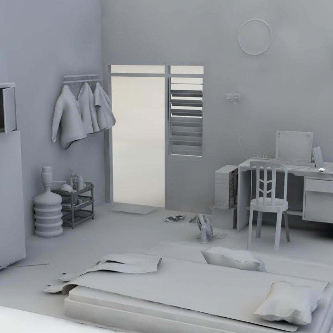 mesh room untexture