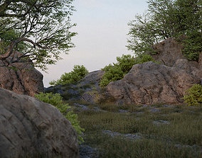 3D model Rock - 8k PBR - Game Ready