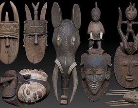 fantasy 3D Carved Wooden Mask Collection