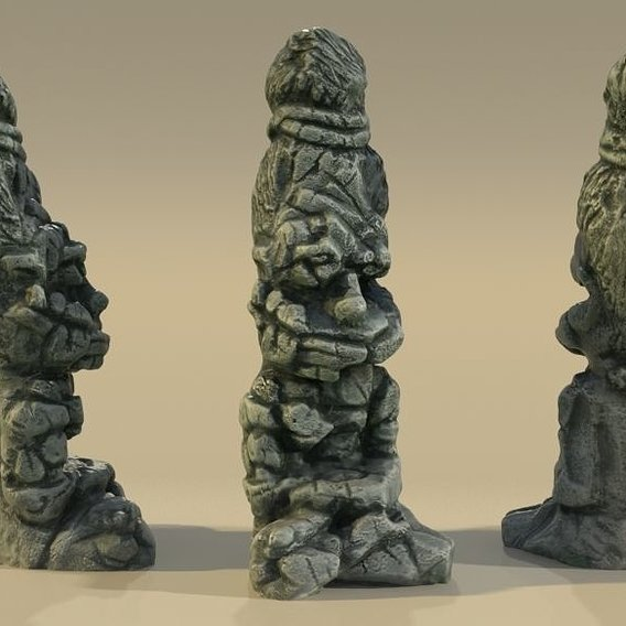 Ancient idol Statue Sadhu