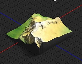 3D Model of Zugspitze Mountain for CNC AND 3D Printer