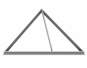 3D print model 0253 Egyptian pyramid BIG cookie cutter