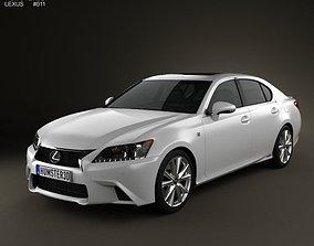 3D Lexus GS F Sport hybrid L10 2012