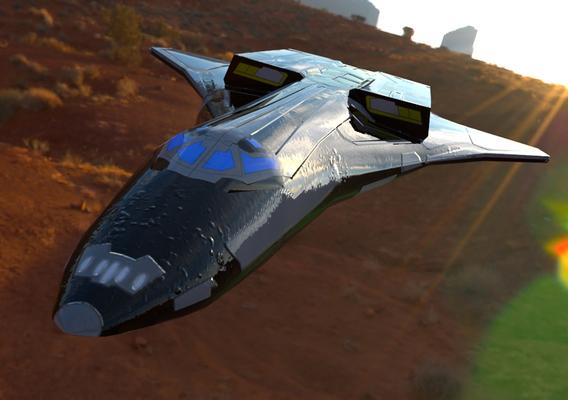 Elysium ST-7A Over a Canyon