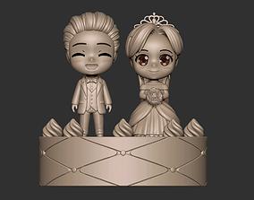 Wedding concept art toy character figure 3D print model