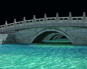 3D asset Golden water bridge of Forbidden City