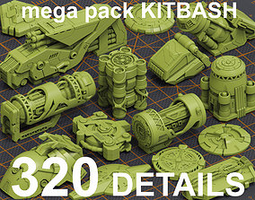 3D Mega Pack Hard Surface Kitbash 320 DETAILS