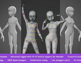 Base Meshes Child Starter Kit 3D asset