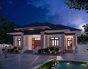 house hotel animated House design 3d model