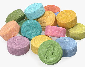 3D model Bunch of Ecstasy Pills
