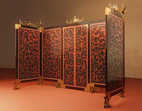 Han Dynasty Screen 3D asset game-ready