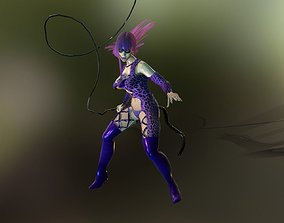3D asset animated Catwoman