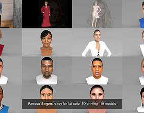 Famous Singers ready for full color 3D printing