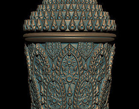 3d The Cup Thai Pattern - 3D Printing Model
