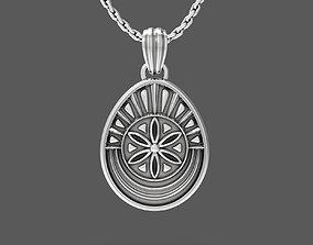 Easter egg Pisanka pendant with 3D printable model 3