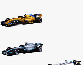 Formula 1 2018 cars Pack 4 3D model
