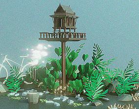 3D model thai spirit house