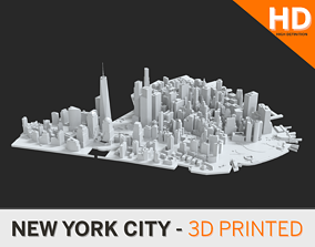 Lower Manhattan NYC 3D print part and Empire State 1