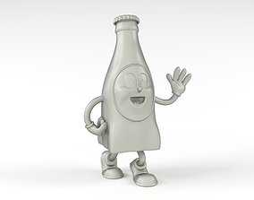 Nuka Cola Bottle Mascot 3D print model
