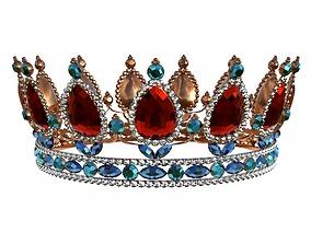 3D model Queen crown with jewel