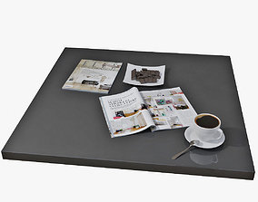 3D model decor set for coffee table