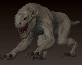 Rigged beast 3D model