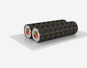 Sushi Roll Slice 3D model