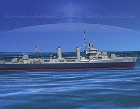 3D Gleaves Class Destroyer USS Cowie DD632
