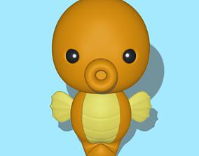 Seahorse 3D printable model figure