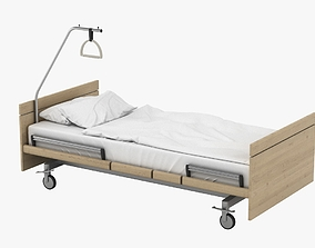 3D Hospital Bed 001