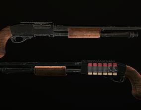 Shotgun 3D asset realtime weapons