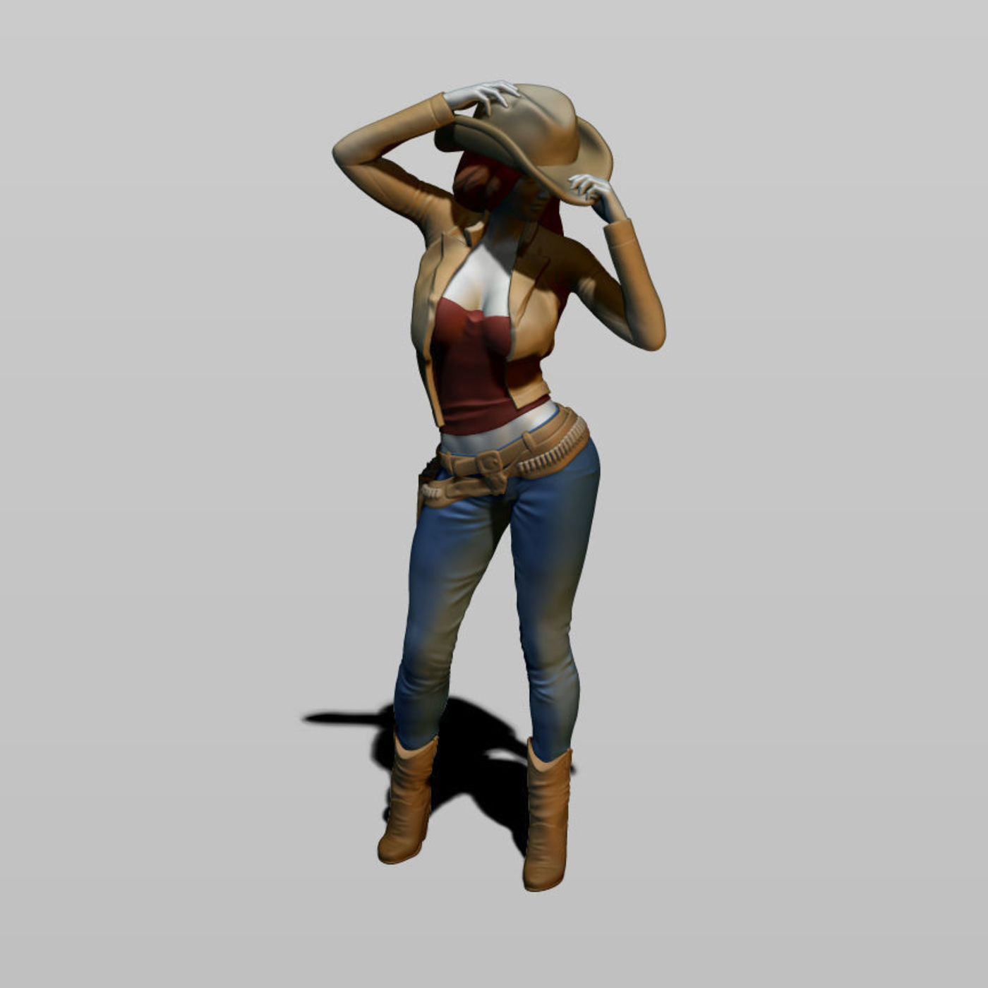 3d cowgirl print.  18 scale